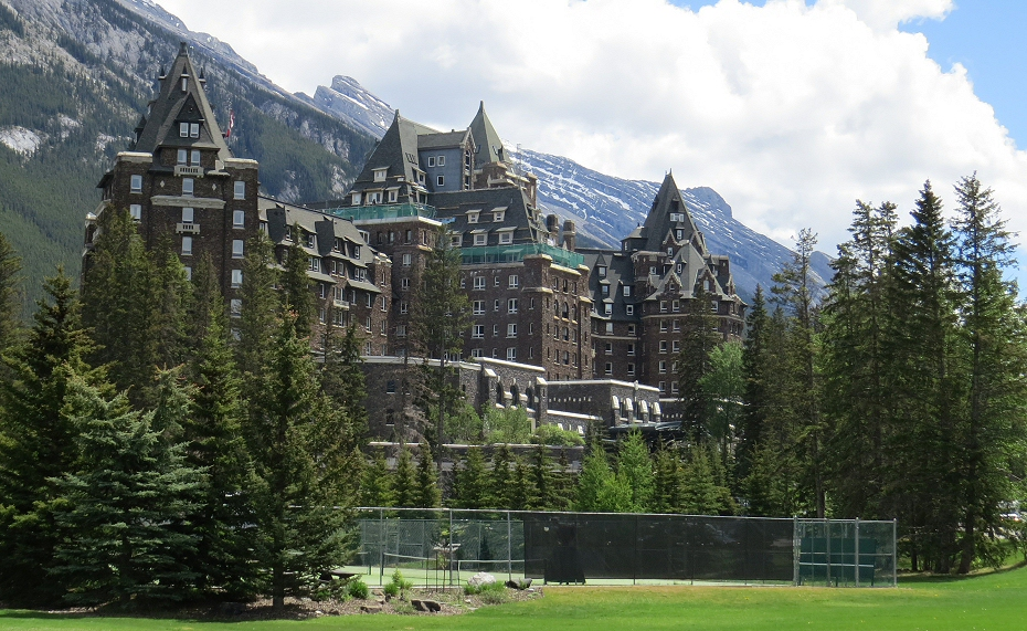 the Banff Springs Hotel is the grand old lady of the Rocky Mountains