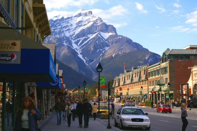 downtown Banff is a quaint alpine village experience