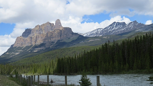 Castle Mountain on Bow Valley Parkway between Banff and Lake Louise