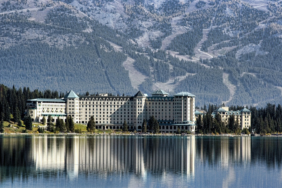 Lake Louise Chateau is a great place for tea, lunch, or an extended stay